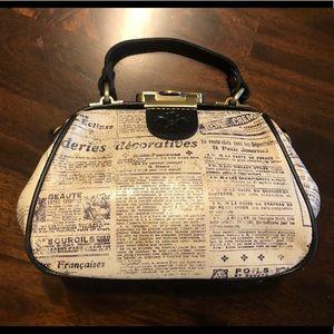 Patricia Nash Antic newspaper print bag